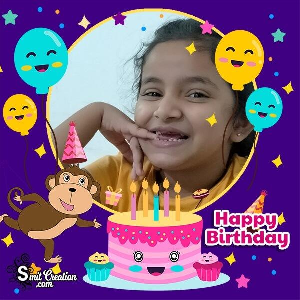 Monkey Birthday Photo Frame