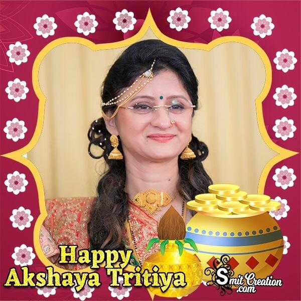 Akshay Tritiya Gold Pot Photo Frame