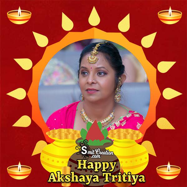 Akshay Tritiya Gold Pots Photo Frame