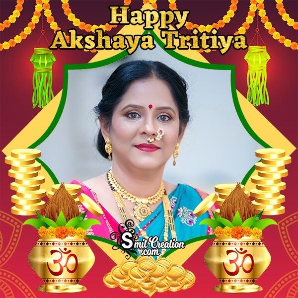 Happy Akshaya Tritiya Gold Photo Frame