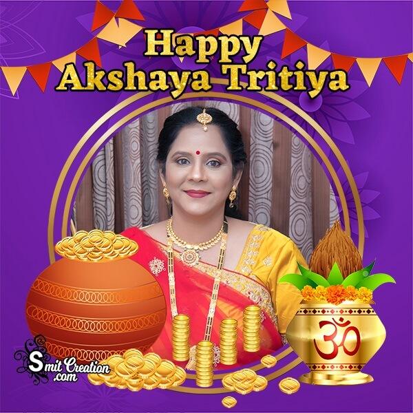 Happy Akshaya Tritiya Gold Pot Photo Frame
