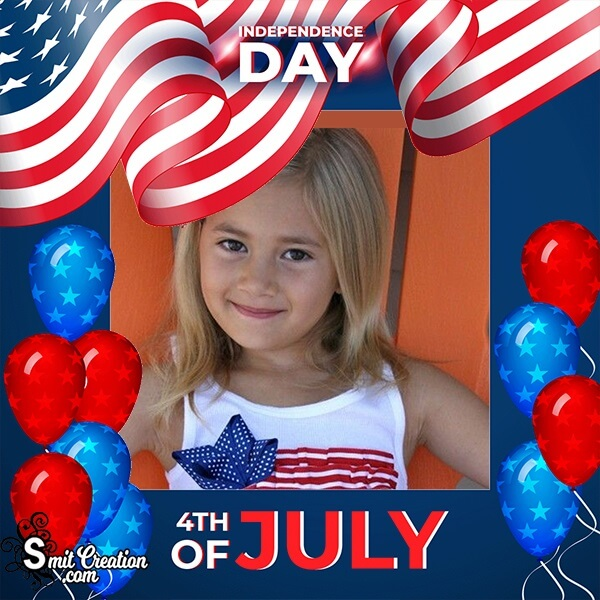 4th Of July Colourful Photo Frame