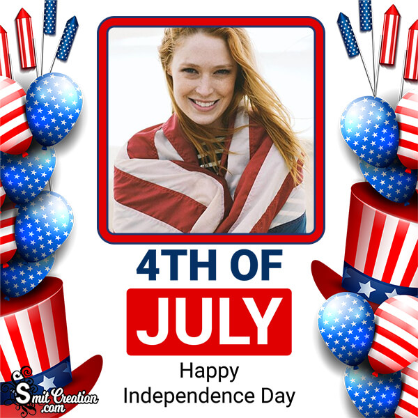 4th Of July Happy Independence Day Photo Frame