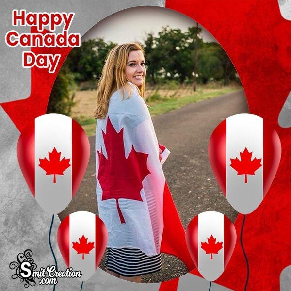 Canada Day Balloons Photo Frame