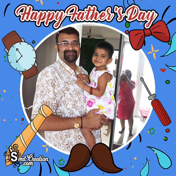 Cute Happy Fathers Day Photo Frame