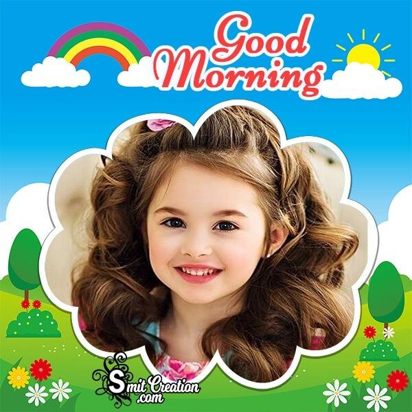 Good Morning Cloudy Photo Frame