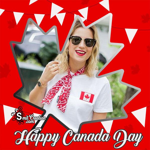 Happy Canada Day Mapel Leaf Photo Frame