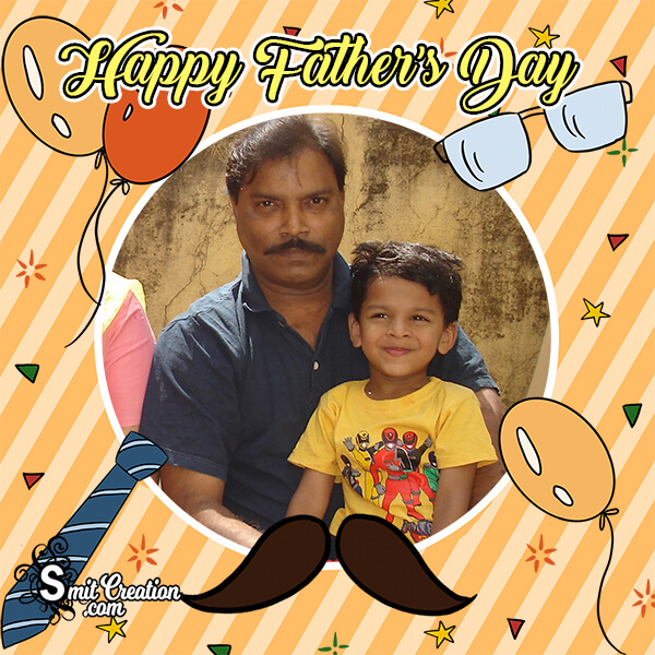 Happy Fathers Day Cute Photo Frame