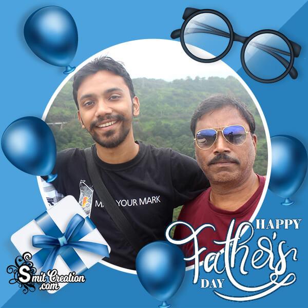 Happy Fathers Day Elegant Photo Frame