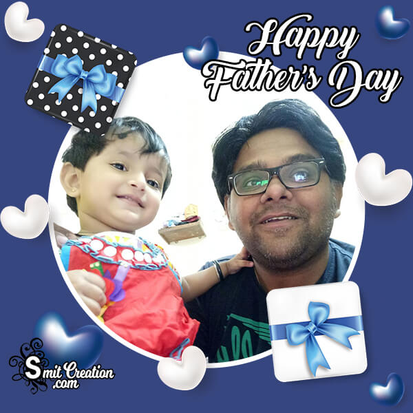 Happy Fathers Day Lovely Photo Frame