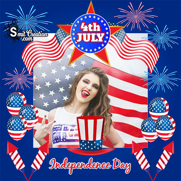 4th July Independence Day Photo Frame