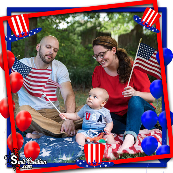 4th Of July Day Facebook Photo Frame
