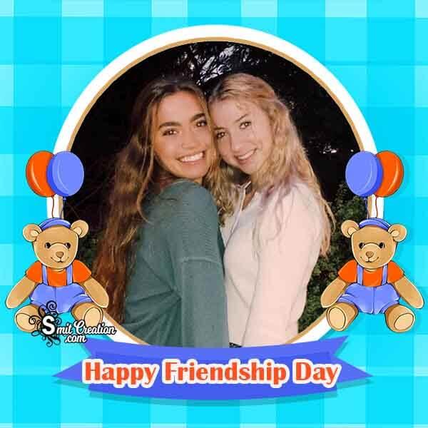 Cute Friendship Day Photo Frame