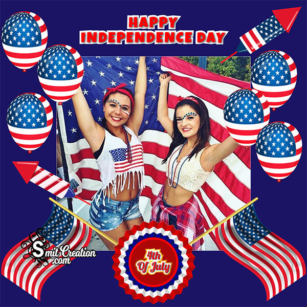 Happy Independence Day 4th July Photo Frame