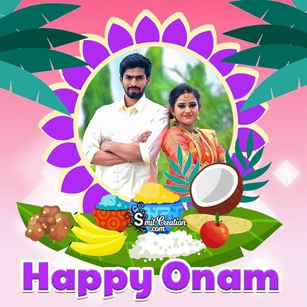 Happy Onam Celebration Photo Frame