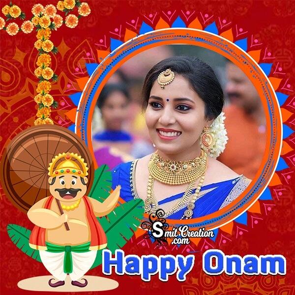 Happy Onam Photo Frame For Dp