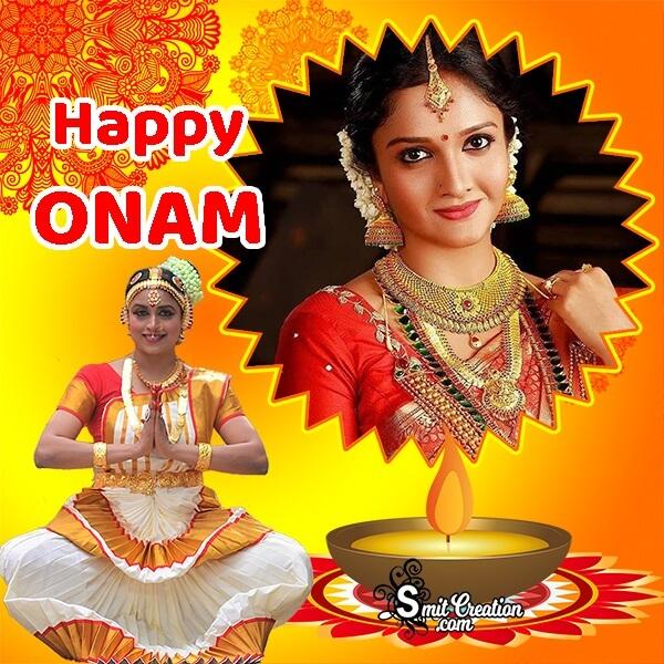 Happy Onam Photo Frame For Status
