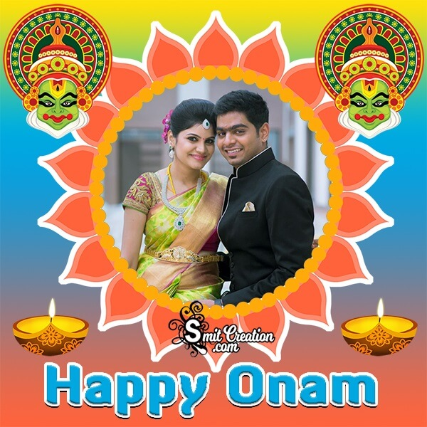 Happy Onam Photo Frame For Whatsapp