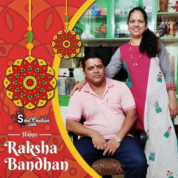 Happy Raksha Bandhan Celebration Photo Frame