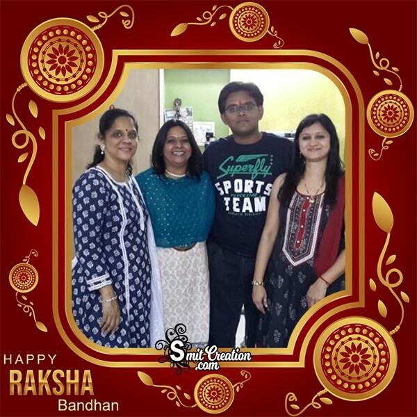 Happy Raksha Bandhan Golden Photo Frame