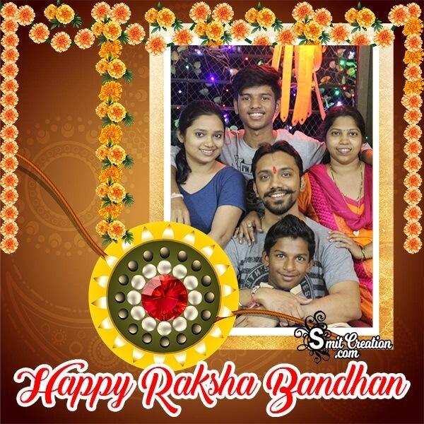 Happy Raksha Bandhan Photo Frame For Whatsapp