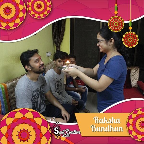 Raksha Bandhan Celebration Photo Frame