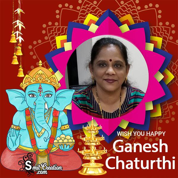 Happy Ganesh Chaturthi Festival Photo Frame