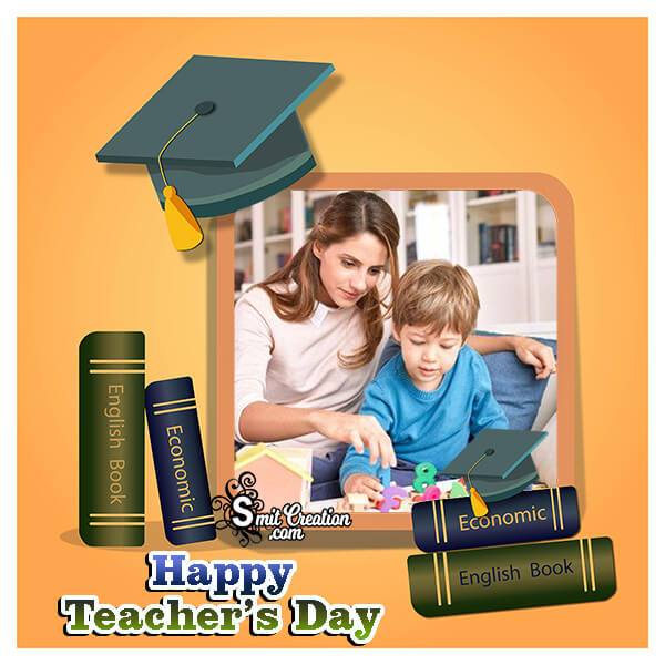 Happy Teachers Day Card Photo Frame