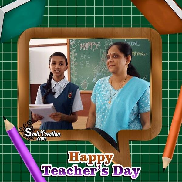 Happy Teachers Day Greeting Photo Frame