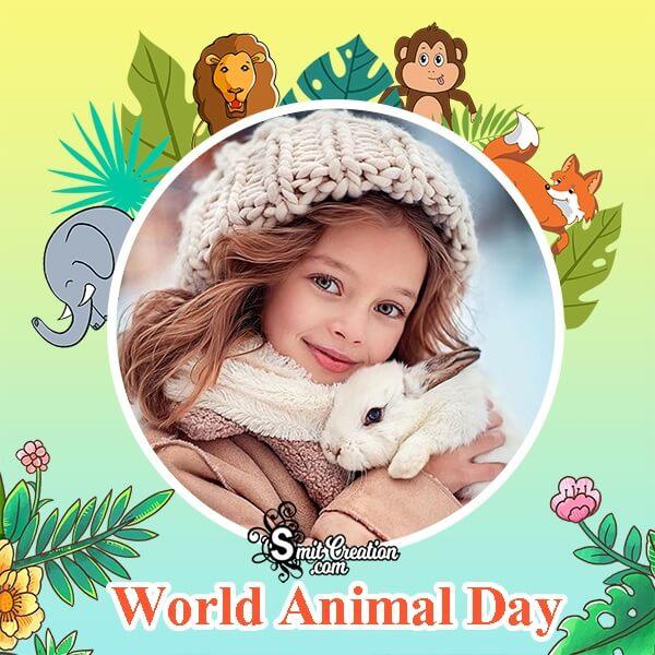 Beautiful Animal Day Photo Frame