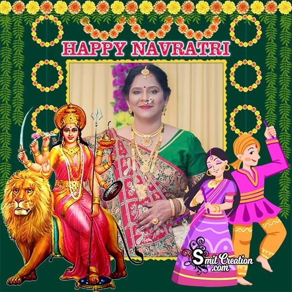 Happy Navratri Dp Photo Frame