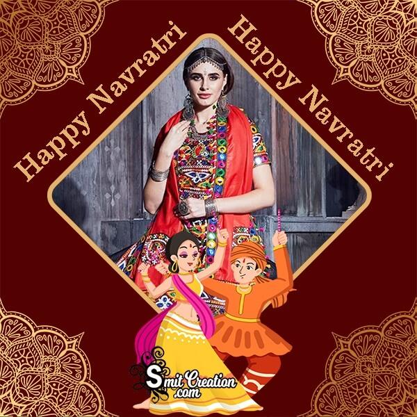 Happy Navratri Garba Photo Frame