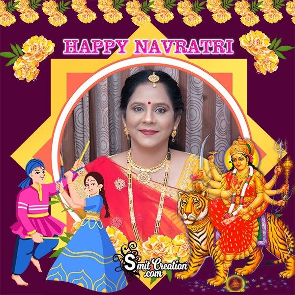 Happy Navratri Profile Photo Frame