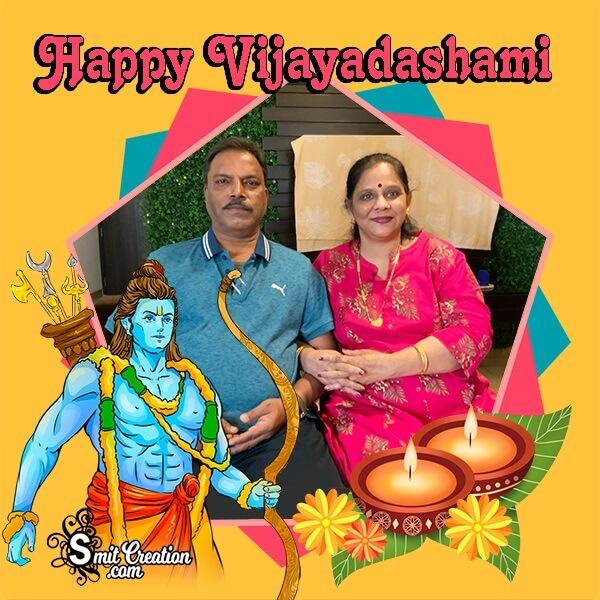 Happy Vijayadashami Dp Photo Frame