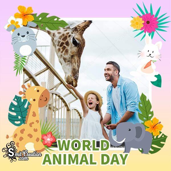 Wonderful Animal Day Photo Frame