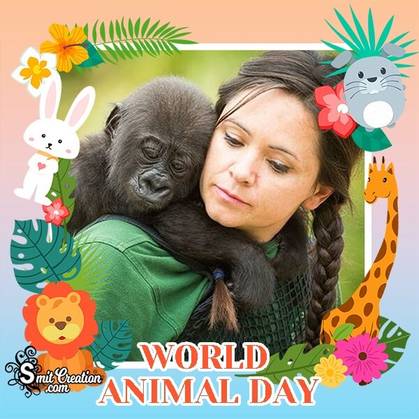 World Animal Day Dp Photo Frame