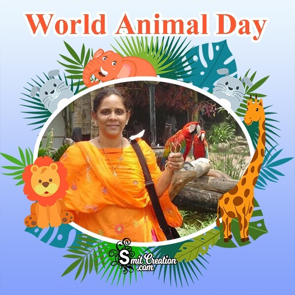 World Animal Day Photo Frame