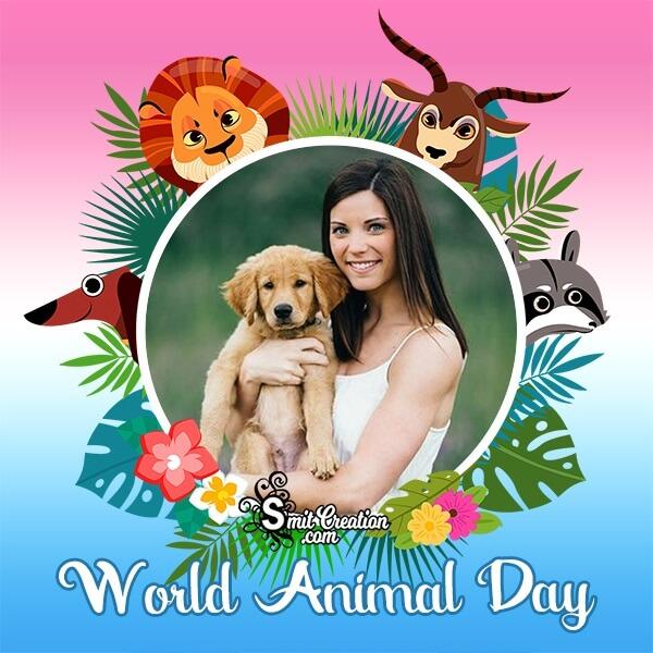 World Animal Day Profile Photo Frame