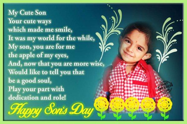 Happy Son's Day