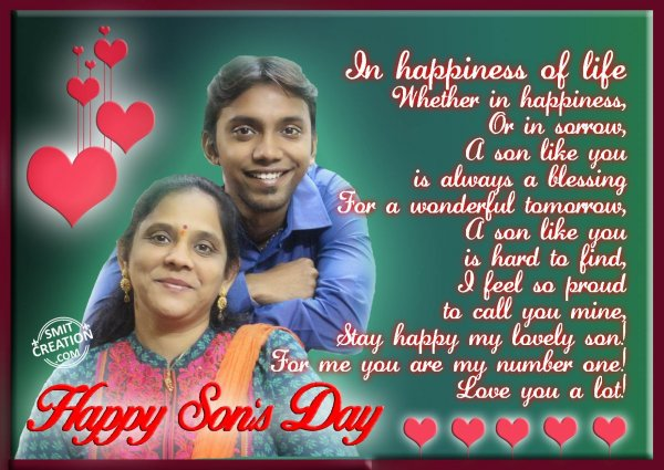 My Dear Son – Happy Son's Day