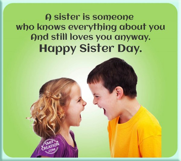 Happy Sister And Brothers Day: SmitCreation.com