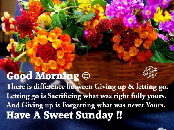 Good Morning - Have A Sweet Sunday!!