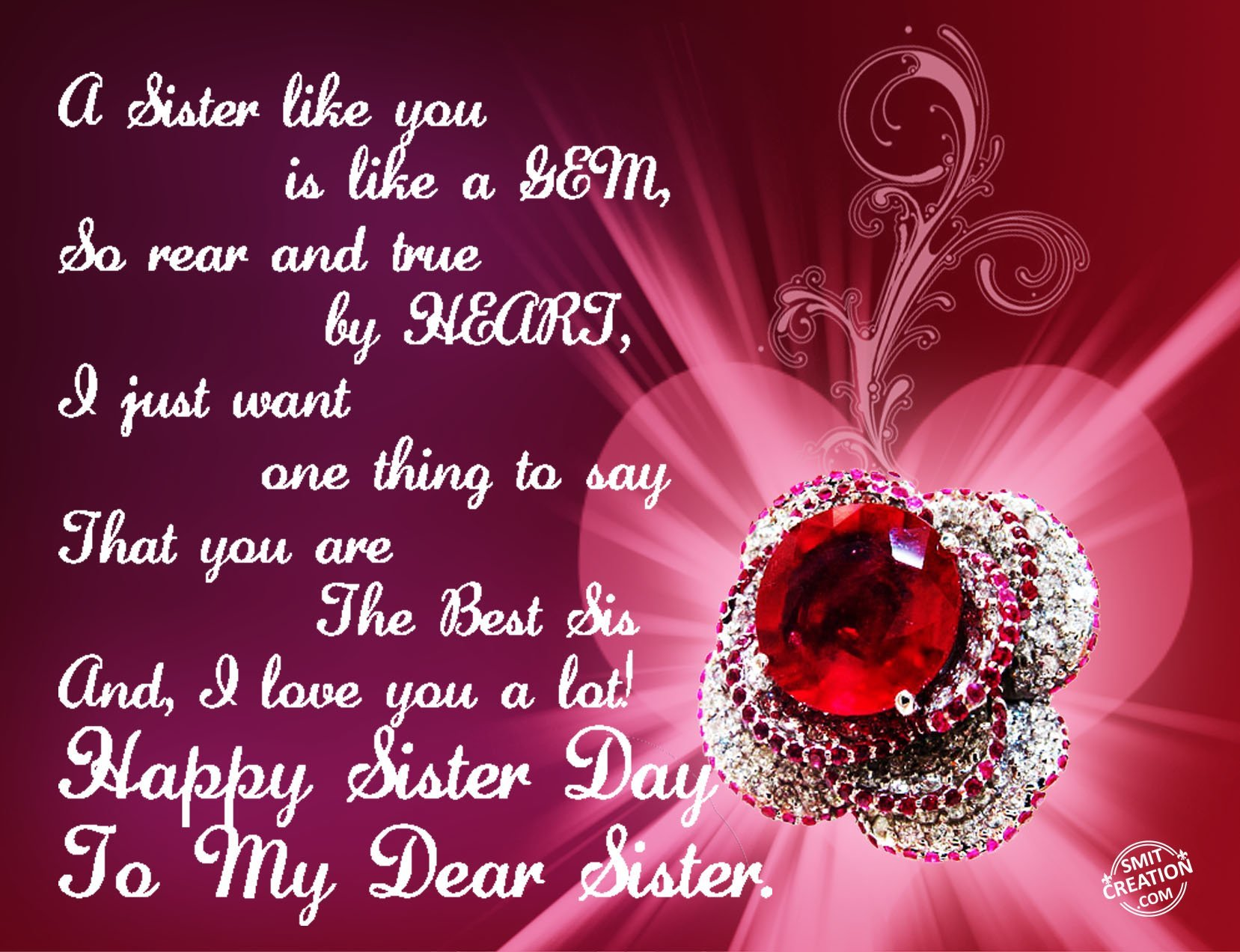 Happy Sister Day To My Dear Sister Smitcreation