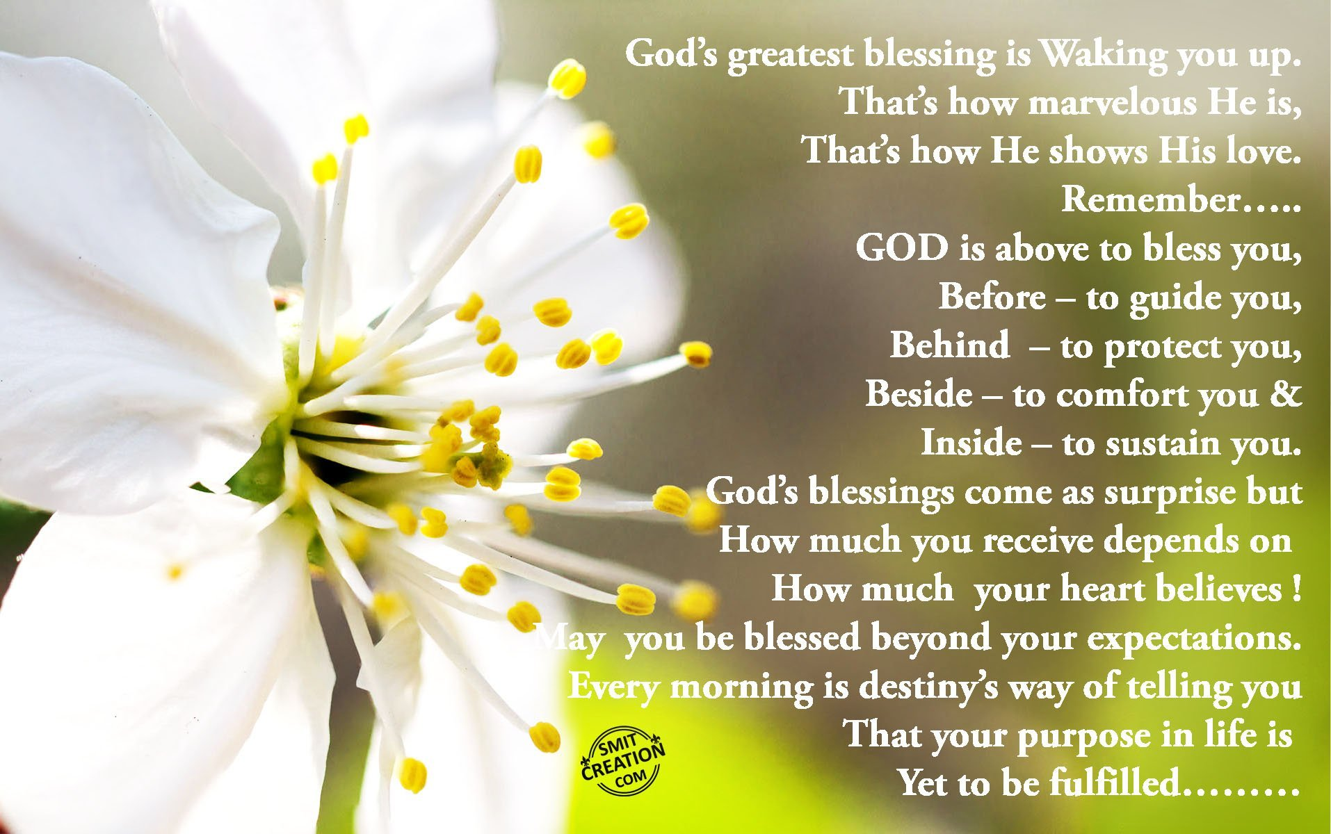 God's Greatest Blessing Is Waking You Up…