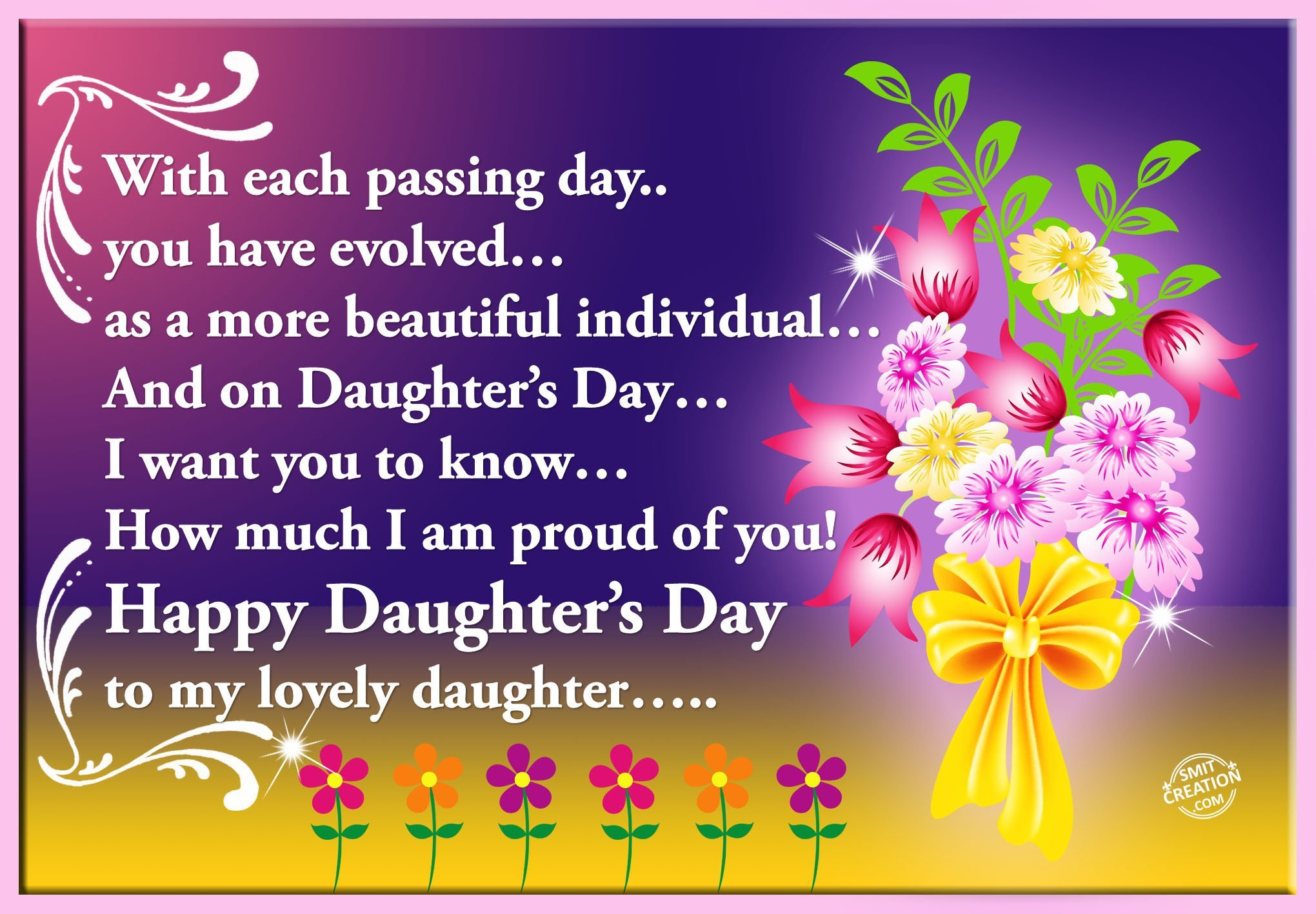 Happy Daughters Day Smitcreationcom