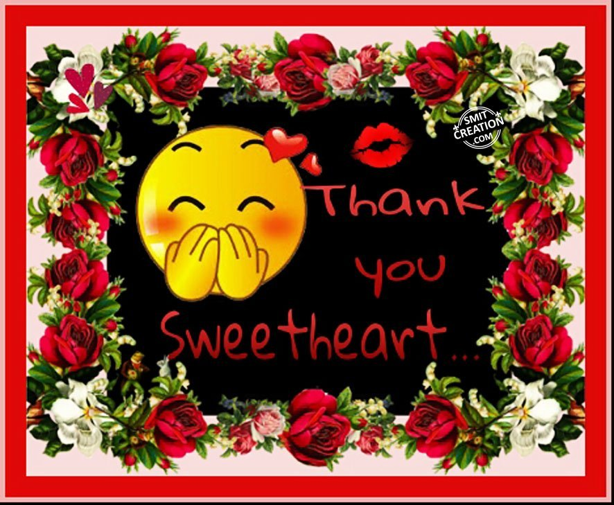 Image result for thank you sweetheart