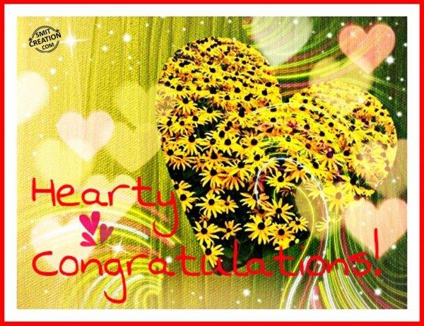 Hearty Congratulations!