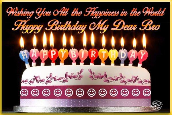 Good Morning God Bless You Happy Birthday My Dear...
