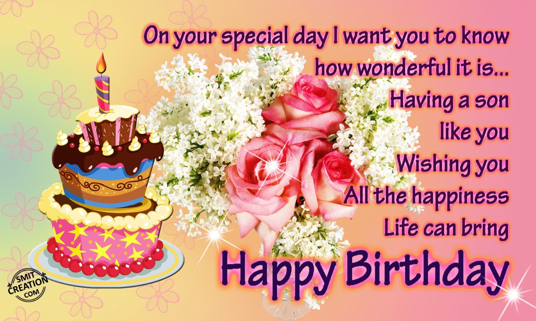Birthday Wishes For Son Pictures And Graphics Smitcreation