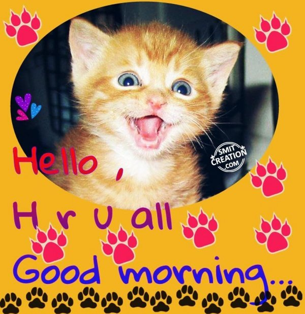 Hello How are you All – Good Morning